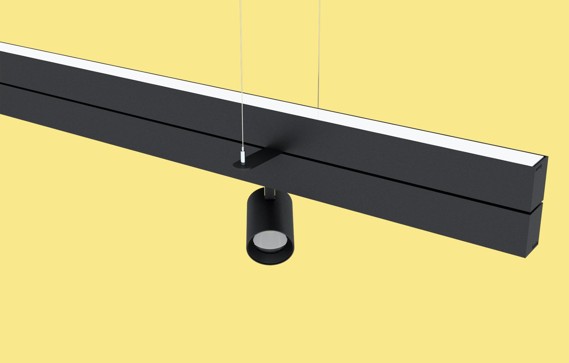 Verlichting ontworpen op maat van de klant: indirecte verlichting gecombineerd met spots.