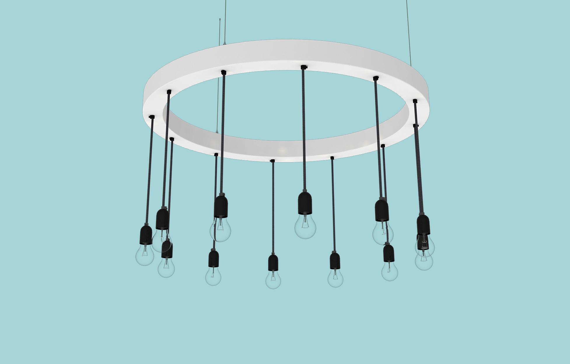 Op maat gemaakte verlichting: een metalen ring met de Swing