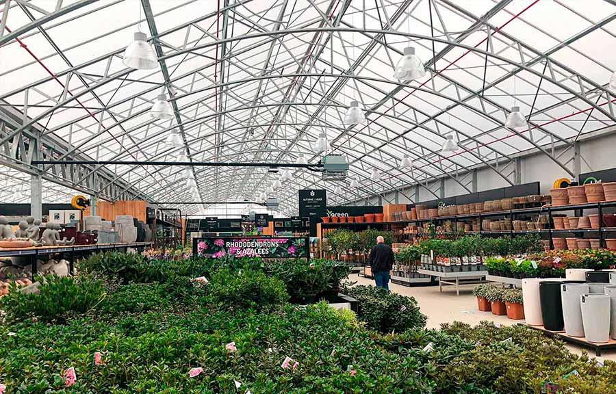 Eclairage pour jardinerie Oh'Green à Hognoul